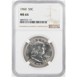 1960 Franklin Half Dollar Coin NGC MS64