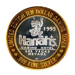.999 Fine Silver Harrah's Casino Las Vegas, Nevada $10 Limited Edition Gaming Token
