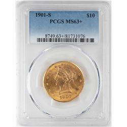 1901-S $10 Liberty Head Eagle Gold Coin PCGS MS63+