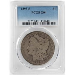 1893-S $1 Morgan Silver Dollar Coin PCGS G04