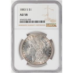 1883-S $1 Morgan Silver Dollar Coin NGC AU58