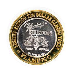 .999 Fine Silver Flamingo Reno, Nevada $10 Limited Edition Gaming Token