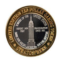 .999 Silver Stratosphere Las Vegas, Nevada $10 Casino Limited Edition Gaming Token