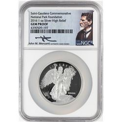 2016 Winged Liberty High Relief One Ounce Silver Proof Coin NGC Gem Proof w/ Box & COA