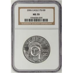 2006 $100 Platinum American Eagle Coin NGC MS70