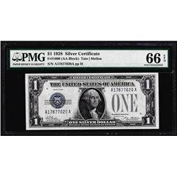 1928 $1 Funnyback Silver Certificate Note Fr.1600 PMG Gem Uncirculated 66EPQ