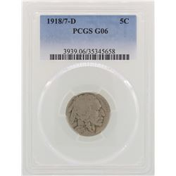1918/7-D Overdate Buffalo Nickel Coin PCGS G06