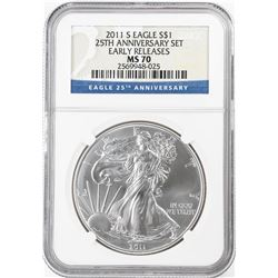 2011-S $1 American Silver Eagle Coin NGC MS70 Early Releases