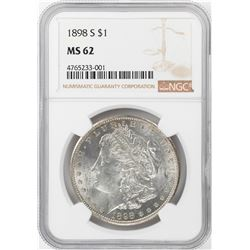 1898-S $1 Morgan Silver Dollar Coin NGC MS62