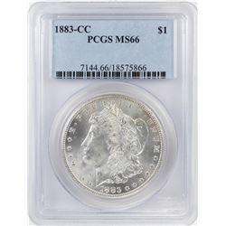 1883-CC $1 Morgan Silver Dollar Coin PCGS MS66