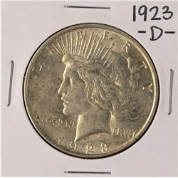 1923-D $1 Peace Silver Dollar Coin