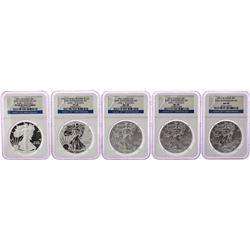 2011 $1 American Silver Eagle 25th Anniversary (5) Coin Set NGC MS69/PF69