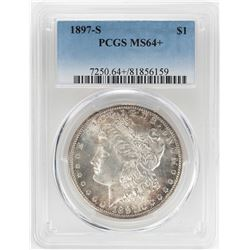 1897-S $1 Morgan Silver Dollar Coin PCGS MS64+