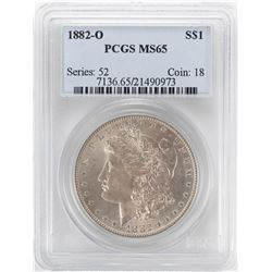 1882-O $1 Morgan Silver Dollar Coin PCGS MS65