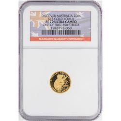 2006-P $15 Australia Koala Gold Coin NGC PF70 Ultra Cameo