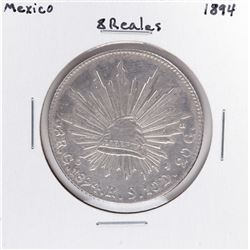 1894 Mexico 8 Reales Silver Coin
