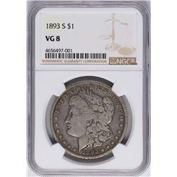 1893-S $1 Morgan Silver Dollar Coin NGC VG8