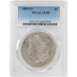 1893-O $1 Morgan Silver Dollar Coin PCGS AU55