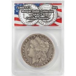1885-CC $1 Morgan Silver Dollar Coin ANACS Certified Genuine