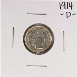 1914-D Barber Dime Coin