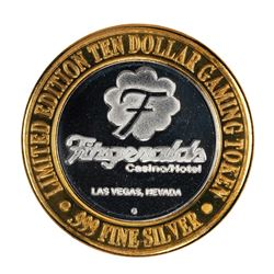 .999 Silver Fitzgerald's Casino & Hotel Las Vegas, NV $10 Limited Edition Gaming Token