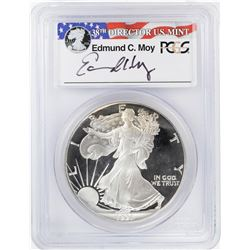 1991-S $1 Proof American Silver Eagle Coin PCGS PR69DCAM Moy Signature