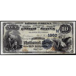 1882DB $10 Pomeroy, Ohio CH# 1980 National Currency Note