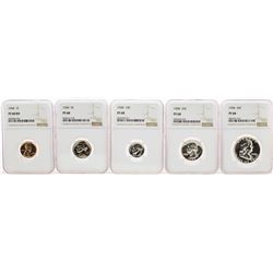 1958 (5) Coin Proof Set NGC PF68