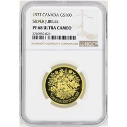 1977 Canada $100 Silver Jubilee Commemorative Gold Coin NGC PF68 Ultra Cameo