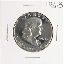 1963 Proof Franklin Half Dollar Coin
