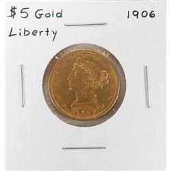 1906 $5 Liberty Head Half Eagle Gold Coin