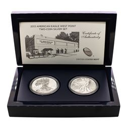 2013-W $1 American Eagle West Point Two-Coin Silver Set