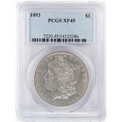 1893 $1 Morgan Silver Dollar Coin PCGS XF45