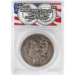 1880-CC $1 Morgan Silver Dollar Coin ANACS Certified Genuine