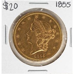 1855 $20 Liberty Head Double Eagle Gold Coin