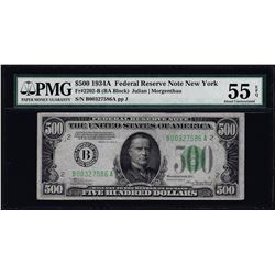 1934A $500 Federal Reserve Note Fr.2202-B PMG About Uncirculated 55EPQ