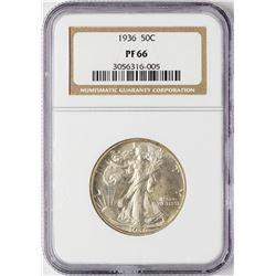 1936 Proof Walking Liberty Half Dollar Coin NGC PF66