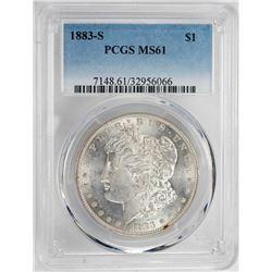 1883-S $1 Morgan Silver Dollar Coin PCGS MS61