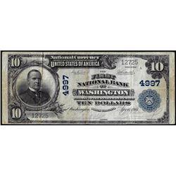 1902PB $10 First NB of Washington, North Carolina CH# 4997 National Currency Note