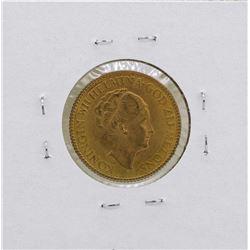 1972 Netherlands 10 Gulden Wilhelmina Gold Coin