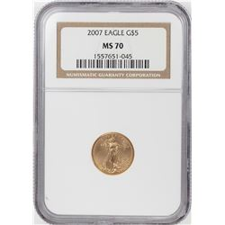 2007 $5 American Gold Eagle Coin NGC MS70