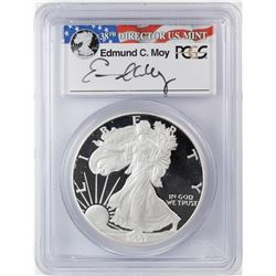 2006-W $1 Proof American Silver Eagle Coin PCGS PR69DCAM Moy Signature