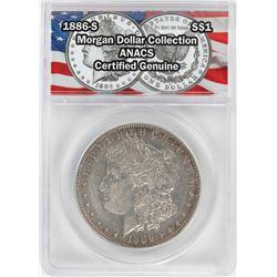 1886-S $1 Morgan Silver Dollar Coin ANACS Certified Genuine
