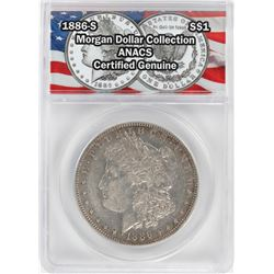1886-S $1 Morgan Silver Dollar Coin ANACS Certified Genuine