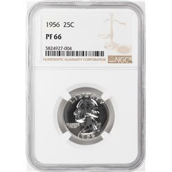 1956 Proof Washington Quarter Coin NGC PF66