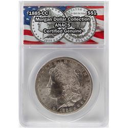 1885-CC $1 Morgan Silver Dollar Coin ANACS Certified Genuine