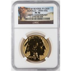 2013-W Reverse Proof American Buffalo Gold Coin NGC PF70