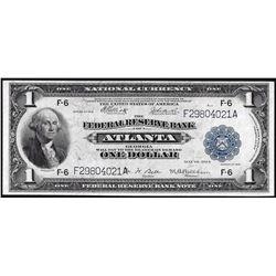 1918 $1 Federal Reserve Bank Note Atlanta