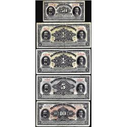 Lot of (5) State of Sonora Mexico Revolutionary Mixed Notes