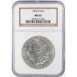 1903-O $1 Morgan Silver Dollar Coin NGC MS63
